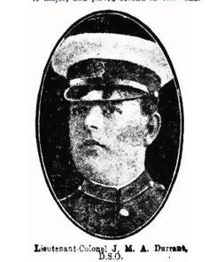 World War One, Parramatta Soldiers, Major-General James Murdoch Archer Durrant