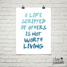 Printable Quote Wall Art A Life Scripted By por ILovePrintable