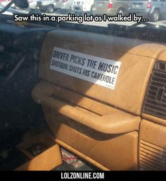Saw This In A Parking Lot...#funny #lol #lolzonline