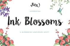 Ink Blossoms from FontBundles.net