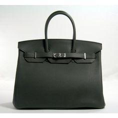 Hermes Vert de Gris Togo 35cm Birkin Bag