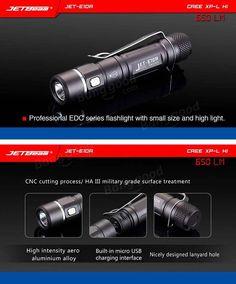 Jetbeam E10R XPL-HI 650LM 14500 / AA EDC LED Flashlight