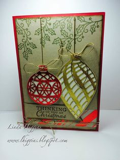 Another sneak peek from the Holiday Catalogue... Embellished Ornaments!