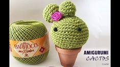 Cactos de Crochê Amigurumi em Crochê Simoni Figueiredo