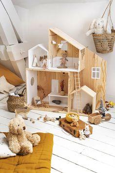 Kids Doll House, Doll House Crafts, Doll House Plans, Modern Dollhouse, Diy Dollhouse, Kids Decor, Home Decor, Barbie House, Diy Toys