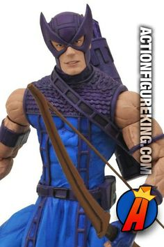 This Marvel Select Hawkeye figure takes its likeness right from the Silver Age Avengers comic books from Marvel. Hawkeye stands approximately 7-inches tall and features about 16-points of articulation. #hawkeye #avengers #actionfigures