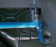 Rear strut brace install on Subaru WRX/STi 08+: Tighten the brace bolts like this. #Sbuaru #WRX #STi #Impreza #Turbo #Cusco #Strutbrace