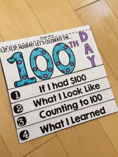 This NO FUSS, NO PREP 100th Day Flip Book is an interactive and engaging way to celebrate the 100th Day of School!