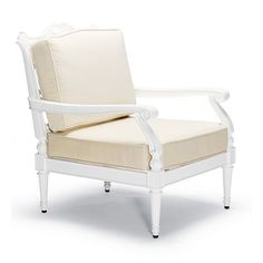 Glen Isle Lounge Chair with Cushions in White Finish
