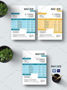 Stationery Templates, Invoice Template, Photoshop Elements, Custom Design