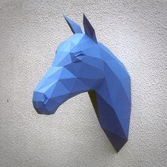 Papercraft horse head printable DIY template 7 от WastePaperHead