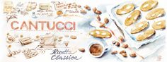 Italian Biscotti Cantucci by Aliona Bereghici Italian Biscotti Recipe, Italian Cookies, Italian Desserts, Brighton Food, Dessert Illustration, Food Banner, Food Painting, Food Challenge, Learning Italian