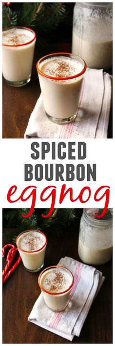 Your favorite holiday drink! Learn how to make spiced bourbon eggnog at home!