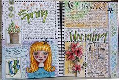 Original pinner sez: great way to create tutorial for myself for scrapbook ideas art journaling
