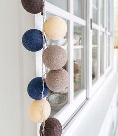 Regular Lichtslinger - Stylish Blue - Cotton Ball Lights Light Colors, Colours, Cotton Ball Lights, Trendy Colors, Fairy Lights, String Lights, Wind Chimes, Design Trends, Indoor
