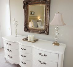 LiveLoveDIY: The French Provincial Dresser Makeover: How To Paint Furniture