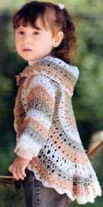 Girls Crochet Circular Jacket Free Pattern