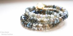 Bracelet+Faithful+Labradorite+Bracelet+by+EwaSiwekWomanFashion,+$80.00