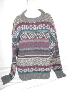Vintage Beautiful  wool    Sweater    XL  by ATELIERVINTAGESHOP