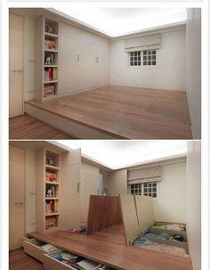Hidden floor storage