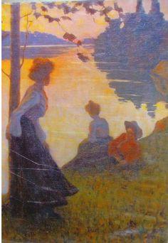 Edvard Munch - Village in Moonlight 1903