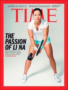 Li Na graces cover of TIME Magazine