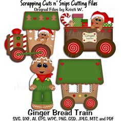 New Products : Scrapping Cuts, CU Cutting Files Gingerbread Decorations, Outdoor Christmas Decorations, Christmas Themes, Christmas Train, Christmas Wood, Christmas Balls, Diy Doll School Supplies, Gingerbread Train, Grinch Party