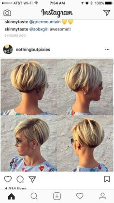 "Cute style http://postorder.tumblr.com/post/157432644549/options-for-short-black-hairstyles-2016-short [   ""For the next time I go short"",   ""Hairstyle Ideas - Best 11 Short Bob Hairstyles with Bangs"",   ""The best way to cut down the maintenance time for your thick hair is cut your hair short. Probably you worry that your hair will change into frizzy once you cut it off."",   ""Cute style http:&"" ] #<br/> # #Braids #For #Short #Hair,<br/> # #Color #For #Short #Hair,<br/> # #Blonde #Short…"