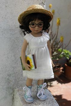 https://flic.kr/p/nGAzBg | Glasses | Ellie needed her glasses to read her book in the sunshine.  (MSD sized glasses by Dollmore).