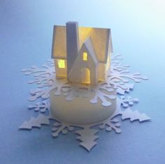 Glitter Houses: Snowflakes for Tea Lights Instructions NOTE ON THIS SITE ARE OLDER POSTS THAT GIVE TUTS ON TINY HOUSES/VILLAGES THAT WOULD FIT ON LED LIGHTS. ACCESS AT BOTTOM OF THIS SITE.