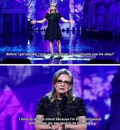 26 Female Celebrities Literally EVERYONE Loves Carrie Fisher 26 Wholesome Female Celebrities Who Are Unproblematic Cultura General, Funny Memes, Hilarious, Star Wars, Fandoms, Badass Women, Faith In Humanity, Long Time Ago, Equality