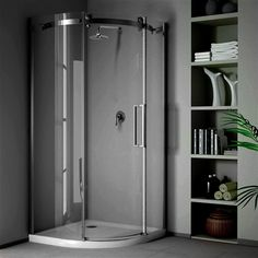 STEEL QUADRANT 90 x The flawless, modern design of the STEEL Quadrant shower enclosure make it an excellent choice for anyone who requires comfort and unprecedented style from their bathroom design. Dimensions - 900 mm (w) 900 mm (d) x 2000 mm (h) Attic Bathroom, Bathroom Renos, Tall Cabinet Storage, Locker Storage, Quadrant Shower Enclosures, Sliding Doors, Small Bathrooms, Bathroom Designs, Bathroom Ideas