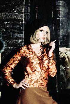 """hollywoodlady: """" Brigitte Bardot for Bonnie and Clyde, 1968 """""""