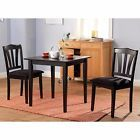 Small 3 Piece Dining Set Table And Chairs Kitchen Furniture Wood Dinette Bistro