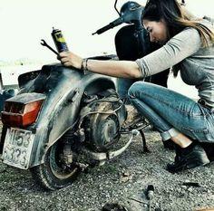 Yup, she's a keeper…. - All things Lambretta & Vespa Moto Vespa, Scooters Vespa, Vespa Motorcycle, Lambretta Scooter, Motor Scooters, Piaggio Vespa, Vespa Girl, Scooter Girl, Lady Biker