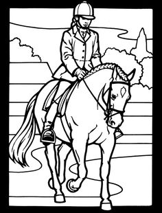Jumping horse coloring page | Horse ideas | Pinterest