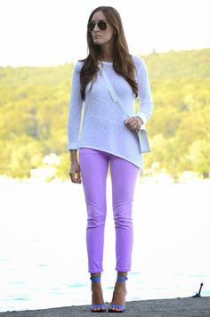 summer knit + bright jeans