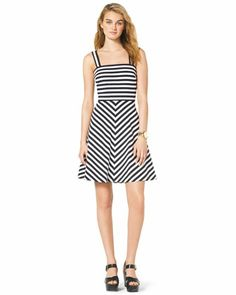 MICHAEL Michael Kors  Striped Ponte Dress.