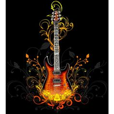 Desktop Wallpapers Gallery 3D-Art Guitar Vector abstract background ❤ liked on Polyvore