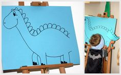 Games for the Dino Birthday: infect the Dino's tail Dinosaur Crafts, Dinosaur Party, Dinosaur Birthday, 2nd Birthday, Birthday Parties, Holidays And Events, Kids And Parenting, Party Themes, Diy And Crafts