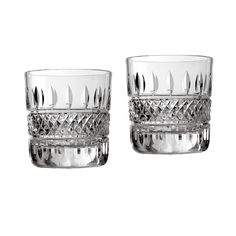 Waterford Irish Lace Double Old Fashioned Cocktail Glasses Set of 2