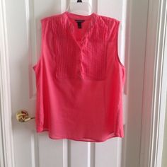 Blouse- sleeveless cotton- Stunning Salmon color cotton sleeveless summer blouse .  It is in perfect condition Bit & Bridle Tops Blouses