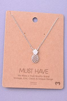 Pineapple Necklace (Silver)