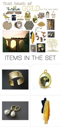 """""""Sunset gold"""" by belinda-evans on Polyvore featuring art"""