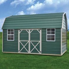 Metal Side Lofted Barn | Derksen Portable Buildings