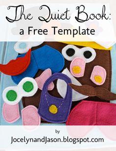 Free Quiet Book Template