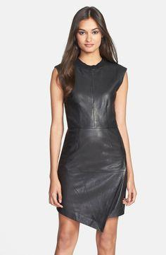 For an edgier look, add killer heels and metallic jewelry to Trina Turk's 'Dalia' in black leather.