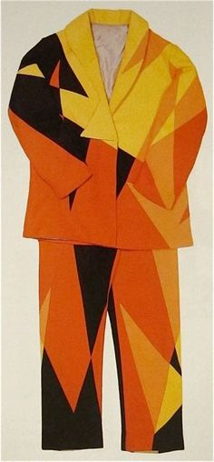 Giacomo Balla Futurist suit c. 1920 This reminds me of the painting I pinned right before this image