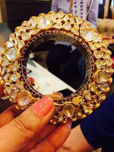 bridal jewelry for the radiant bride Kundan Bangles, Bridal Bangles, Gold Bangles, Silver Bracelets, Wedding Jewelry, Bangle Bracelets, Necklaces, Diamond Jewelry, Gold Jewelry