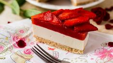 Gitta nyersétel blogja: eper Panna Cotta, Cheesecake, Ethnic Recipes, Food, Image, Dulce De Leche, Cheesecakes, Essen, Meals
